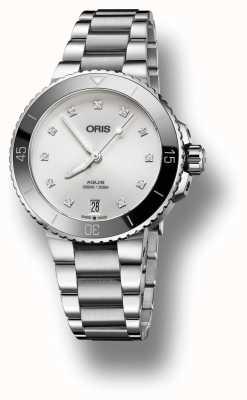 Oris Reloj de acero para mujer 01 733 7731 4191-07 8 18 05P