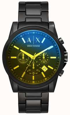 Armani Exchange Brazalete de acero inoxidable para hombre outerbanks AX2513
