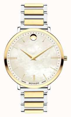 Movado Reloj de dos tonos ultra delgado de las mujeres 0607171