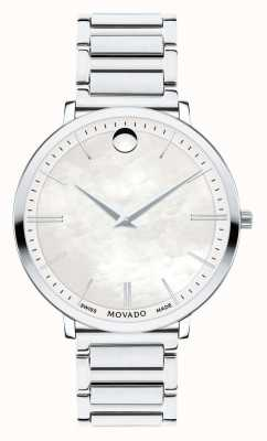 Movado Reloj ultra delgado de acero inoxidable para mujer 0607170