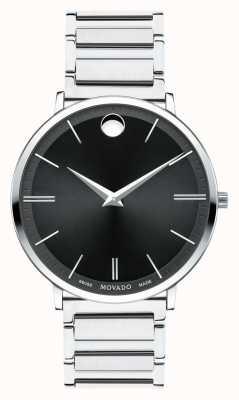 Movado Reloj ultra delgado de acero inoxidable para hombre 0607167
