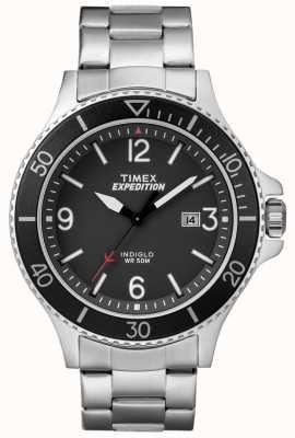 Timex Hombres de expedición ranger metal pulsera dial negro TW4B10900