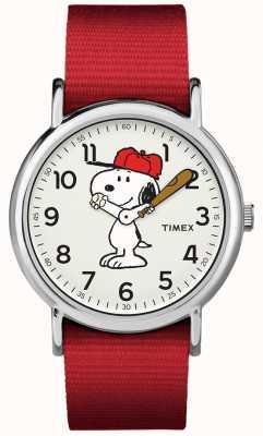 Timex Reloj snoopy correa roja TW2R414006B