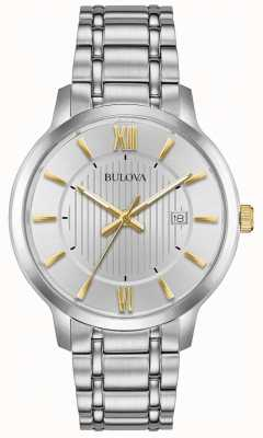 Bulova Reloj clásico para hombre de acero inoxidable 98B306