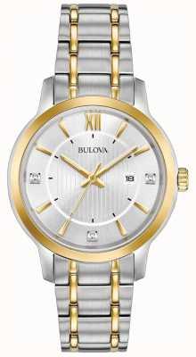 Bulova Reloj clásico de acero inoxidable para mujer 98P175