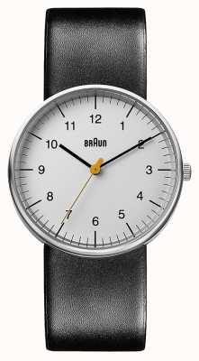 Braun Reloj de cuero negro unisex BN0021BKG
