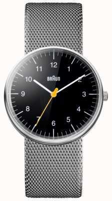Braun Reloj de pulsera de malla de acero unisex BN0021BKSLMHG