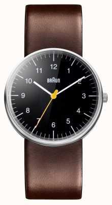 Braun Reloj de correa de cuero marrón para hombre BN0021BKBRG