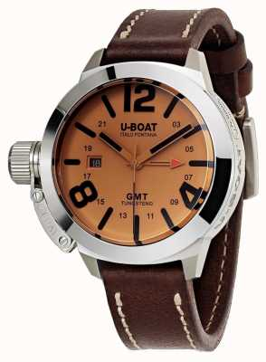 U-Boat Classico 45 gmt be leather watch cuero automático marrón 8051
