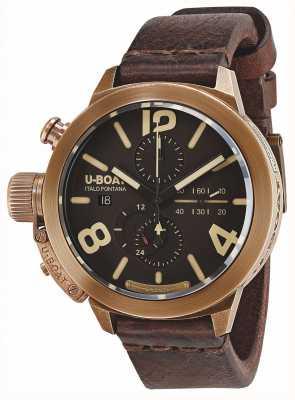 U-Boat Classico 50 bronce ca br correa de cuero marrón automático 8064