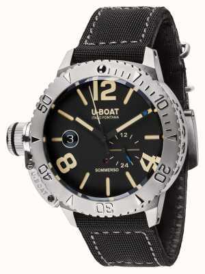 U-Boat Sommerso 46 bk correa de caucho negra automática 9007