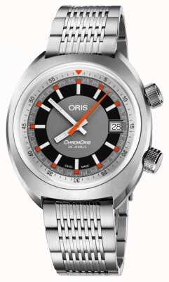Oris Chronoris date gray dial stainless steel bracelet 01 733 7737 4053-07 8 19 01