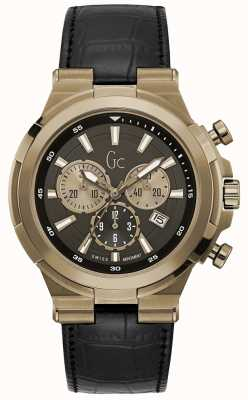 Gc Mens structura sport chic cronógrafo bronce Y23012G2