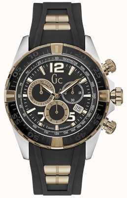 Gc Reloj deportivo cronógrafo negro sportracer para hombre Y02011G2