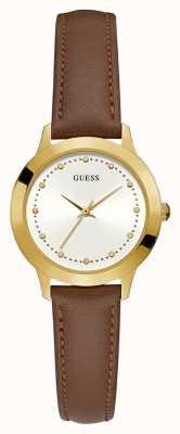 Guess Reloj chelsea dorado redondo para mujer W0993L2