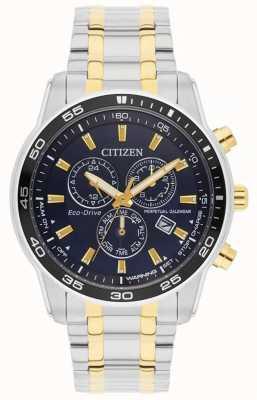Citizen Hombres | eco-drive | reloj de acero inoxidable y esfera negra ip dorada BL5514-53L