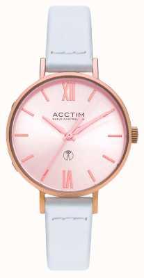Acctim Reloj bonny radio control de cuero blanco para mujer 60520