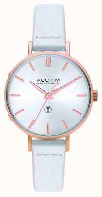 Acctim Reloj bonny radio control de cuero blanco para mujer 60512