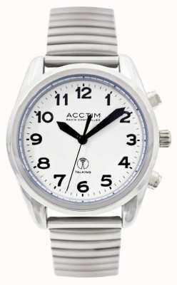 Acctim Reloj de acero inoxidable con control de radio para hombre Highview 60347