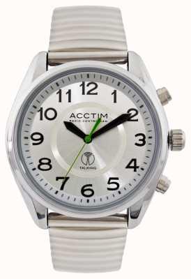 Acctim Reloj de acero que habla controlado por radio highclere para hombre 60357BRA