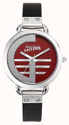 Jean Paul Gaultier Mujeres index g correa de cuero negro esfera roja JP8504320
