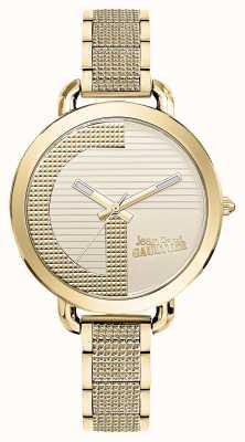 Jean Paul Gaultier Mujeres índice g gold pvd bracelet gold dial JP8504322
