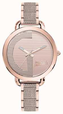 Jean Paul Gaultier Mujeres índice g rosa oro pvd pulsera esfera de oro rosa JP8504323
