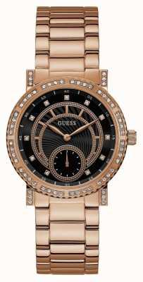 Guess Reloj constelación para mujer rosa dorado W1006L2