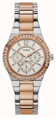 Guess Reloj de mujer envidia cronógrafo dos tonos W0845L6