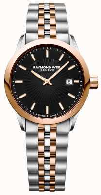 Raymond Weil Reloj de cuarzo independiente para mujeres pulsera de dos tonos 5629-SP5-20021