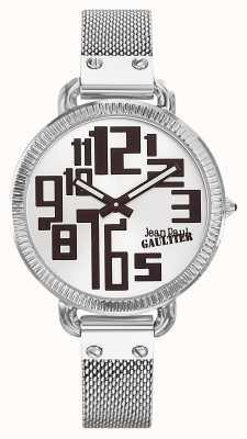 Jean Paul Gaultier Cuadrícula de acero inoxidable con malla de acero inoxidable para mujer JP8504311