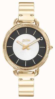 Jean Paul Gaultier Mujeres índice de oro pvd pulsera de plata esfera JP8504303