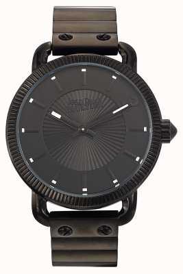 Jean Paul Gaultier Mens index black steel bracelet black dial JP8504402