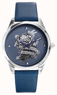 Jean Paul Gaultier Azul marino tatoo correa de cuero azul marca JP8502413