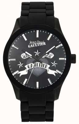 Jean Paul Gaultier Enfants terribles pulsera de caucho negro esfera negra JP8501125