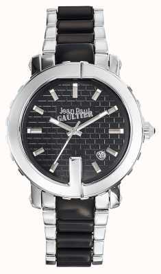 Jean Paul Gaultier Punto para mujer g acero inoxidable pulsera esfera negra JP8500513
