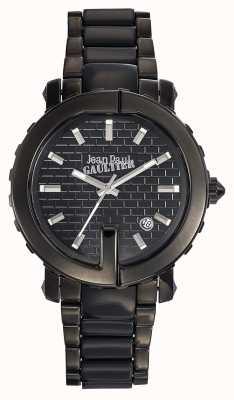 Jean Paul Gaultier Punto para mujer negro acero inoxidable pulsera esfera negra JP8500514