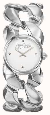 Jean Paul Gaultier Para mujer maxi chaine brazalete de acero inoxidable esfera plateada JP8504601
