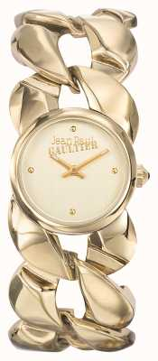 Jean Paul Gaultier Para mujer maxi chaine gold pvd bracelet gold dial JP8504602