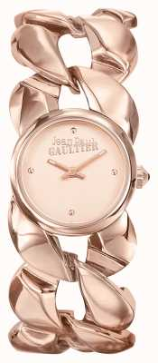 Jean Paul Gaultier Para mujer maxi chaine rose gold pvd bracelet rose gold dial JP8504603