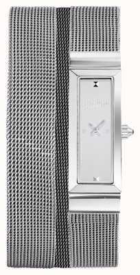 Jean Paul Gaultier Pulsera de malla de acero inoxidable para mujer cote de maille JP8503901