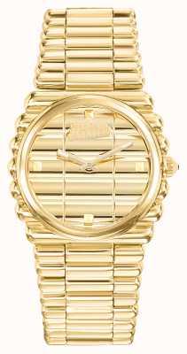 Jean Paul Gaultier Para mujer Bord Cote Gold Pvd pulsera de oro esfera JP8504102
