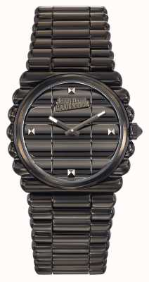 Jean Paul Gaultier Mujeres bord cote black pvd bracelet black dial JP8504103