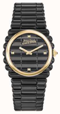 Jean Paul Gaultier Mujeres bord cote black pvd bracelet black dial JP8504105