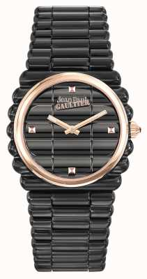 Jean Paul Gaultier Mujeres bord cote black pvd bracelet black dial JP8504104
