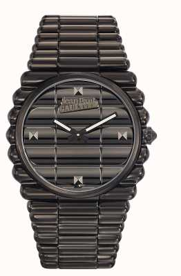 Jean Paul Gaultier Mens bord cote black pvd bracelet black dial JP8504203