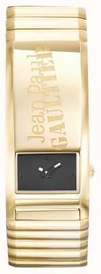 Jean Paul Gaultier Pulsera de oro de Identite Dial negro JP8503705