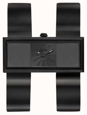 Jean Paul Gaultier Para mujer doble jeu negro pvd pulsera esfera negra JP8505007