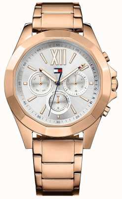 Tommy Hilfiger Dial plateado plateado pvd chelsea rose gold 1781847