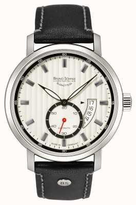 Bruno Sohnle Pesaro ii reloj automático de cuero negro de 44 mm 17-12150-267